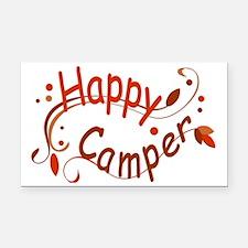 Happy Camper Red Rectangle Car Magnet