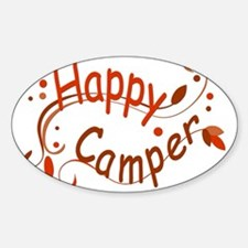Happy Camper Red Decal