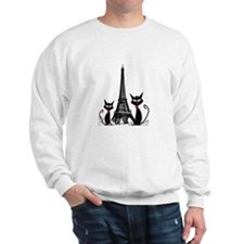 Cats Eiffel Tower Pillow Sweatshirt