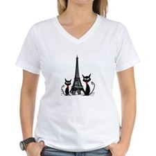 Cats Eiffel Tower Pillow Shirt