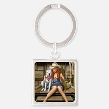 Southern Girl Square Keychain
