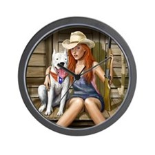 Southern Girl for mousemat Wall Clock