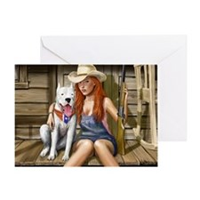 Southern Girl for mousemat Greeting Card