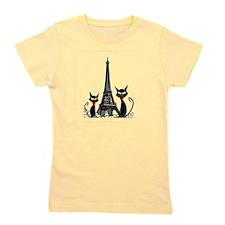 Cats Eiffel Tower Pillow Girl's Tee