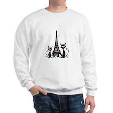 Cats Eiffel Tower Pillow Sweatshirt