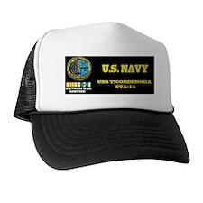 CVA14 USS TICONDEROGA Trucker Hat