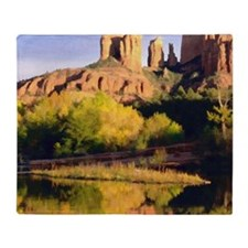Red Rocks of Sedona Arizona copy Throw Blanket