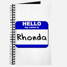 hello my name is rhonda Journal