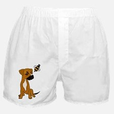 Boxer Mix Puppy Dog and Bee Boxer Shorts