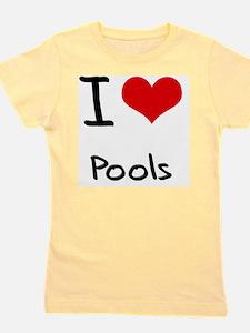 I Love Pools Girl's Tee