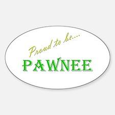 Pawnee Oval Decal