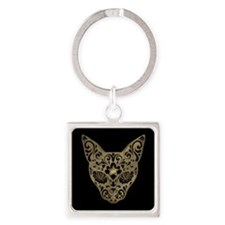 Golden Egyptian style mystical cat Keychains