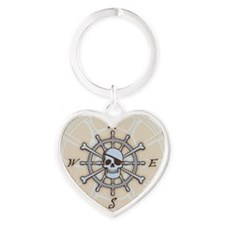 ship-wheel-sk-BUT Heart Keychain