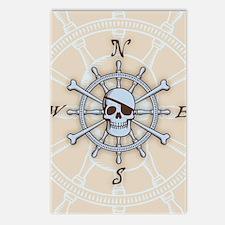 ship-wheel-sk-LG Postcards (Package of 8)