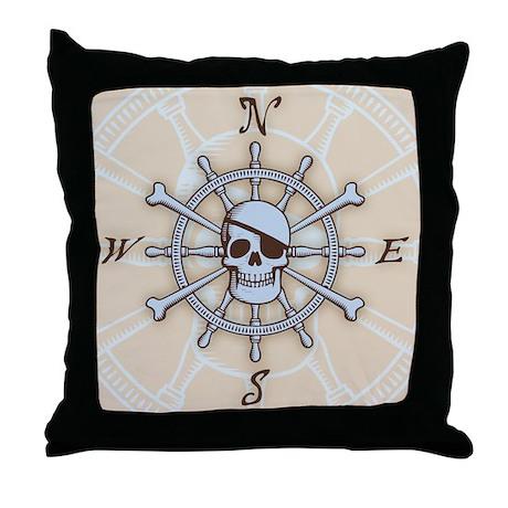 ship-wheel-sk-LG Throw Pillow