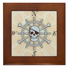 ship-wheel-sk-LG Framed Tile