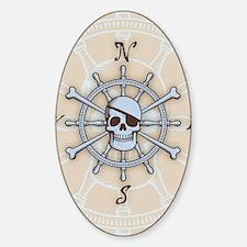 ship-wheel-sk-LG Sticker (Oval)