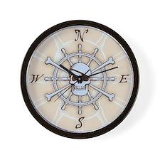ship-wheel-sk-LG Wall Clock