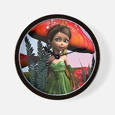 Fairy in Woodland Wall Clock