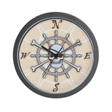 ship-wheel-sk-PLLO Wall Clock