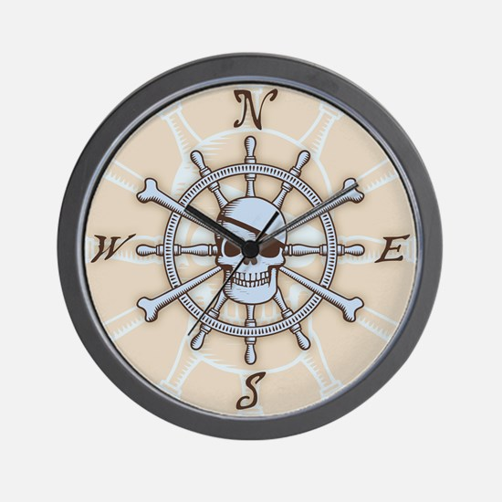 ship-wheel-sk-PLLO Wall Clock