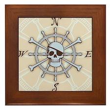 ship-wheel-sk-PLLO Framed Tile