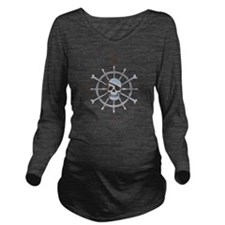 ship-wheel-sk-LTT Long Sleeve Maternity T-Shirt