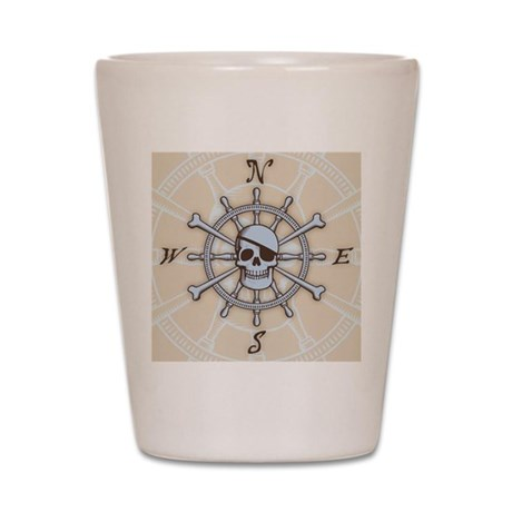ship-wheel-sk-PLLO Shot Glass