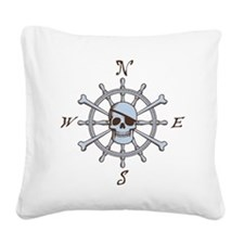 ship-wheel-sk-LTT Square Canvas Pillow