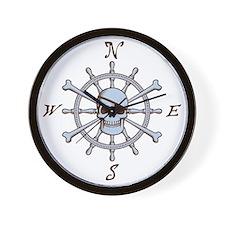 ship-wheel-sk-LTT Wall Clock