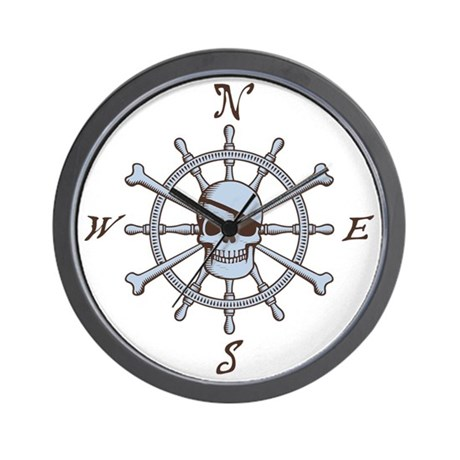 ship-wheel-sk-LTT Wall Clock