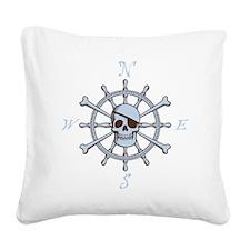 ship-wheel-sk-DKT Square Canvas Pillow