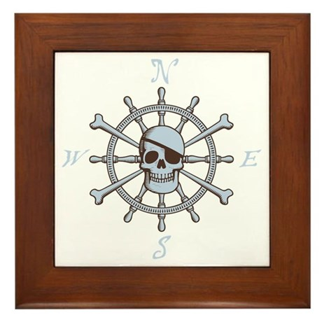 ship-wheel-sk-DKT Framed Tile