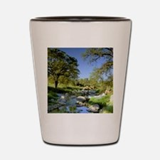 Countryside Creek and Trees Shot Glass