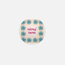 retired nurse pink background Mini Button