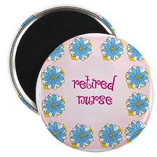 retired nurse pink background Magnet
