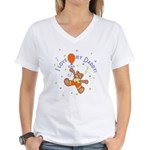 Love Daddy Bear (B) Women's V-Neck T-Shirt