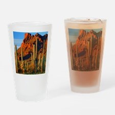 Arizona Desert Saguaro Cactus and M Drinking Glass