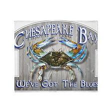 Chesapeake Bay Blues Throw Blanket