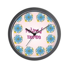 retired nurse pink background Wall Clock