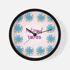 retired nurse pink background Wall Clock
