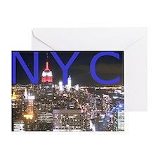 New York at Night Greeting Card