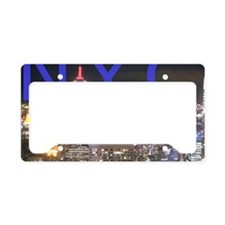 New York at Night License Plate Holder