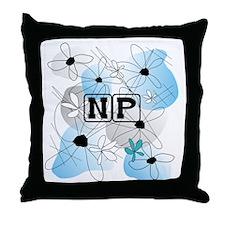 Nurse Practitioner Pillow blue Throw Pillow