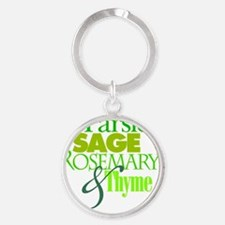 Parsley, Sage, Rosemary & Thyme Round Keychain