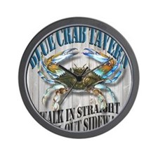Blue Crab Tavern Wall Clock