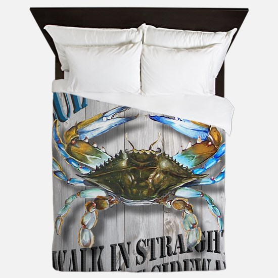 Blue Crab Tavern Queen Duvet