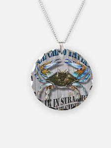 Blue Crab Tavern Necklace