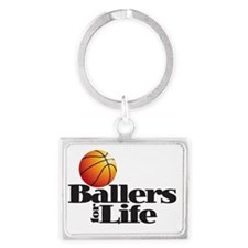 Ballers for Life Landscape Keychain
