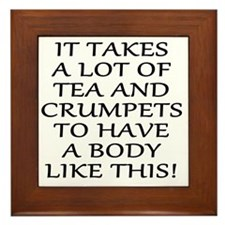 It Takes a Lot of Tea and Crumpets... Framed Tile